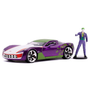 Jada Diecast 1:24 2009 Corvette Stingray Concept with Joker Figure