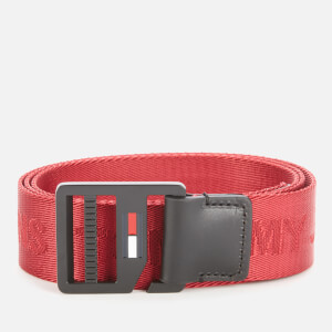 Tommy Jeans Men's TJM Webbing Belt 3.5 - Wine Red