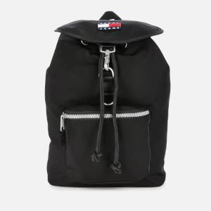 Tommy Jeans Men's TJM Heritage Flap Backpack - Black