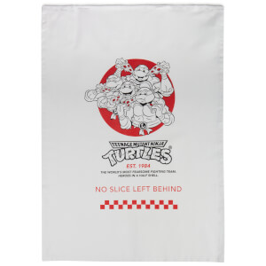Teenage Mutant Ninja Turtles By The Slice Cotton Tea Towel - White
