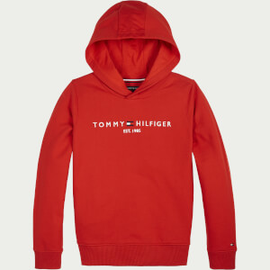 Tommy Hilfiger Boys' Essential Hoody - Deep Crimson