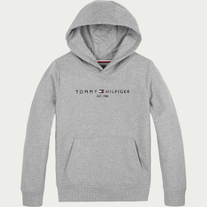 Tommy Hilfiger Boys' Essential Hoody - Mid Grey Heather