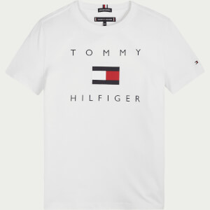 Tommy Hilfiger Boys' Logo Short Sleeve T-Shirt - White