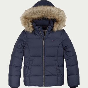 Tommy Hilfiger Girls' Essential Basic Down Jacket - Twilight Navy