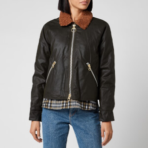 Barbour X Alexa Chung Women's Floyd Wax Jacket - Fern/Northumberland Check