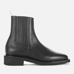 Thom Browne Women's Pebble Grain Leather Chelsea Boots - Black