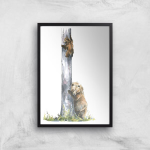 Snowtap Family Of Two Giclee Art Print