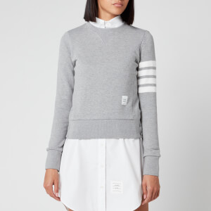 Thom Browne Women's Classic Sweatshirt In Classic Loop Back - Light Grey