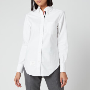 Thom Browne Women's Classic Long Sleeve Shirt - White