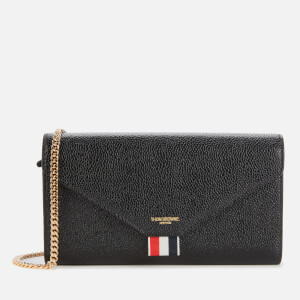 Thom Browne Women's Envelope Long Wallet with Long Chain - Black
