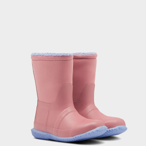 Hunter Toddlers' Sherpa Boots - Hibiscus Pink/Puplit Purple