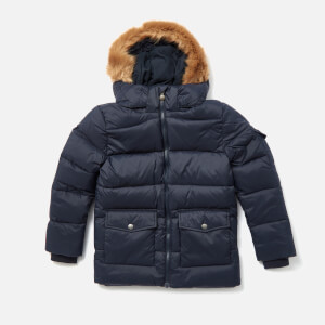 Pyrenex Boys' Authentic Mat Faux Fur Jacket - Amiral