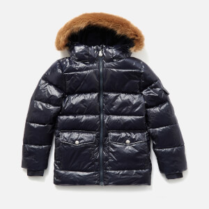 Pyrenex Girls' Authentic Shiny Synthetic Fur Jacket - Amiral
