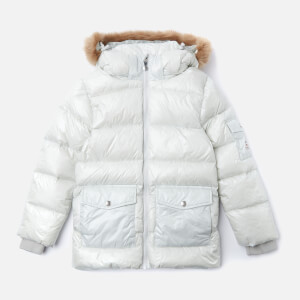 Pyrenex Girls' Authentic Shiny Synthetic Fur Jacket - Pale Stone