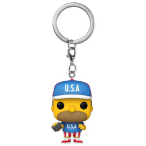 Simpsons USA Homer Funko Pop! Keychain
