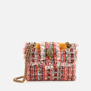 Kurt Geiger London Women's Tweed Mini Kensington Bag - Orange