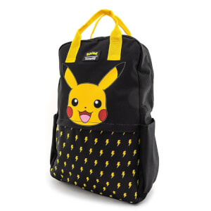 Loungefly Pokemon Lightning Bolt Pikachu Nylon Square Backpack