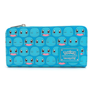 Loungefly Pokemon Squirtle Faces AOP Top Zip Wallet