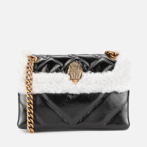 Kurt Geiger London Women's Patent Mini Kensington Bag - Black/White