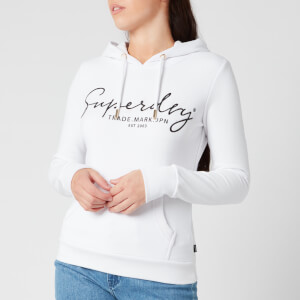 Superdry Women's Alice Script Emb Entry Hoody - Optic