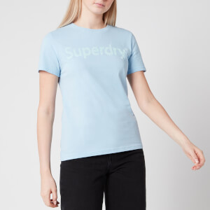 Superdry Women's Regular Flock Entry T-Shirt - Light Chambray