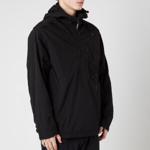 C.P. Company Men's Half Zip Hooded Jacket - Black