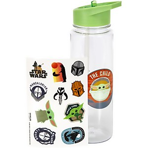 The Child Plastic Water Bottle with Stickers