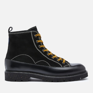 PS Paul Smith Men's Buhl Leather Lace Up Boots - Black