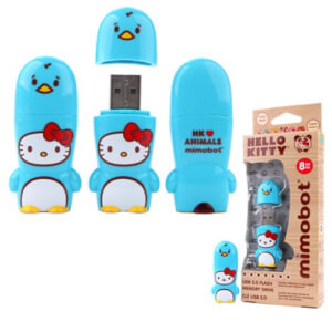 Hello Kitty Penguin Mimobot USB Flash Drive