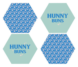 Demi Donnelly Hunny Buns Hexagonal Coaster Set