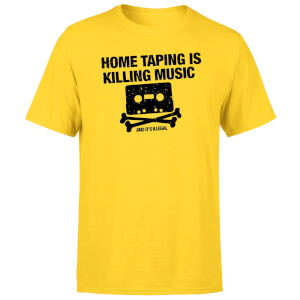 Home Taping Is Killing Music Black Men's T-Shirt - Yellow