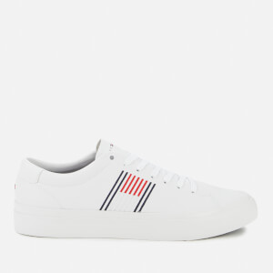 Tommy Hilfiger Men's Corporate Leather Low Top Trainers - White