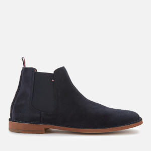Tommy Hilfiger Men's Dress Casual Suede Chelsea Boots - Desert Sky