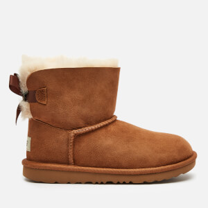 UGG Kids' Mini Bailey Bow Sheepskin Boots - Chestnut