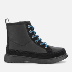 UGG Kids' Robley Waterproof Leather Lace up Boots - Black