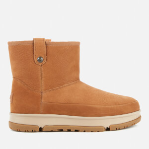 UGG Women's Classic Weather Mini Water Resistant Leather Boots - Chestnut