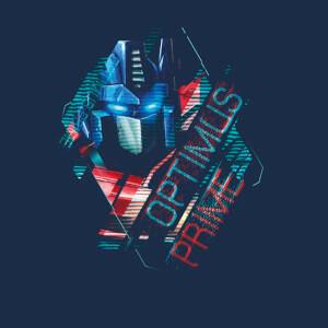 T-shirt Transformers Optimus Prime Glitch - Bleu Marine - Femme