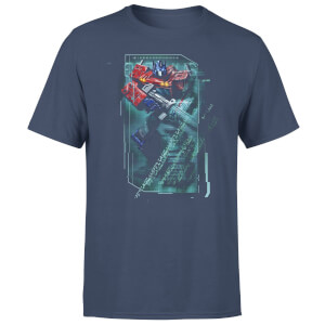 T-Shirt Transformers Optimus Prime Tech - Blu Navy - Unisex