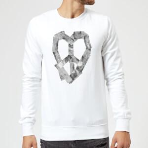 Ikiiki Peace Heart Sweatshirt - White