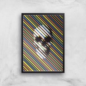 Ikiiki Stripe Skull Giclee Art Print