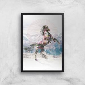 Ikiiki Floral Horse Giclee Art Print