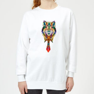Ikiiki Wolf Women's Sweatshirt - White
