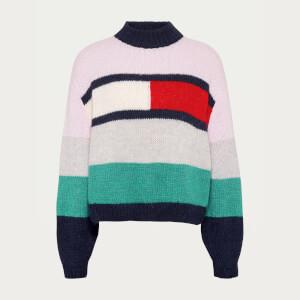 Tommy Jeans Women's TJW Bell Sleeve Flag Sweatshirt - Romantic Pink/Multi