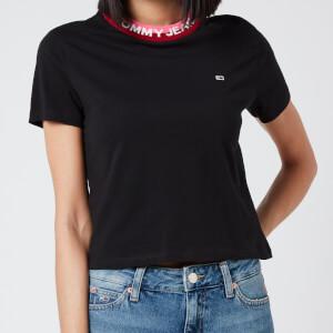 Tommy Jeans Women's TJW Branded Rib T-Shirt - Black