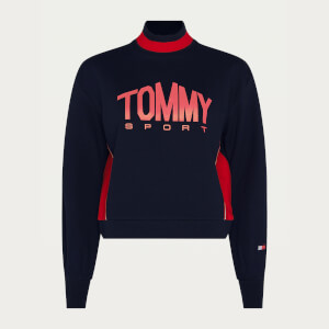 Tommy Sport Women's Cropped Crew Neck Jumper - Desert Sky