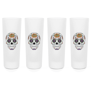 Sugar Skull Shot Glasses - Set of 4