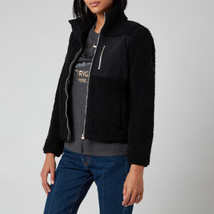 Superdry Women's Storm Panel Borg Zip Through Fleece - Black