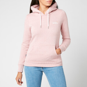 Superdry Women's Orange Label Overhead Hoodie - Sandy Pink Snowy