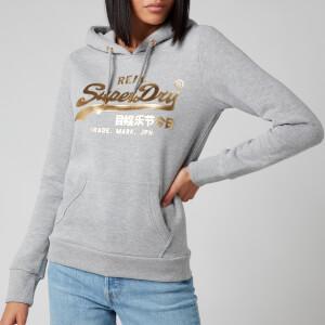 Superdry Women's Vl Luster Hoodie Br - Grey Marl