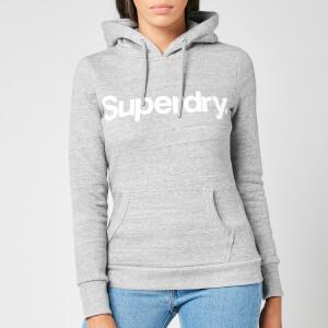 Superdry Women's Cl Flock Hoodie - Soft Grey Marl